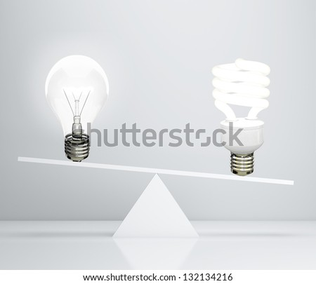 two lamp on scales, 3d render