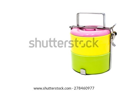 Two layers of tiffin carriers
