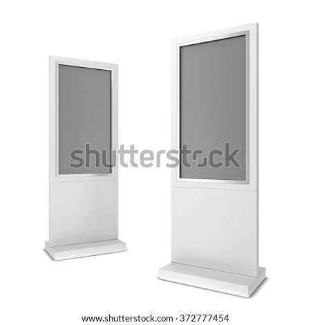 Two lcd displays. 3d illustration isolated on white background - stock photo