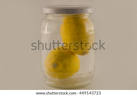 Two lemons in a closed jar