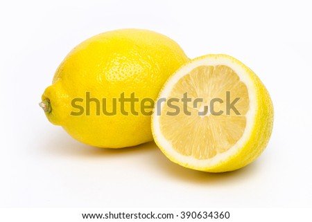 Two lemons isolated