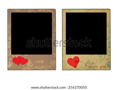 Two love frames - stock photo
