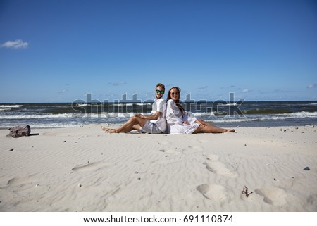 two lovers on beach