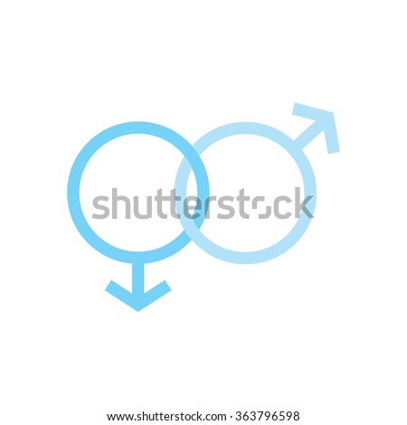 two males gender signs sexual symbols valentines day - stock photo