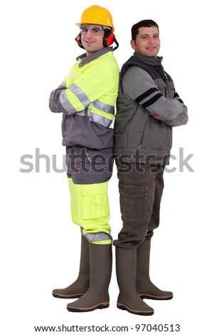 Two manual workers