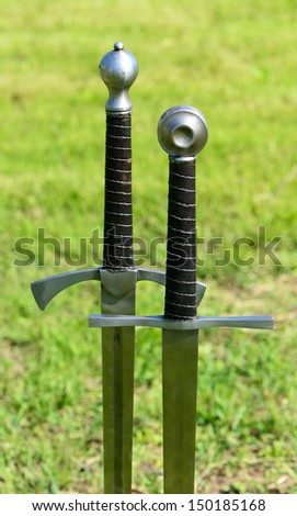 Two medieval sword
