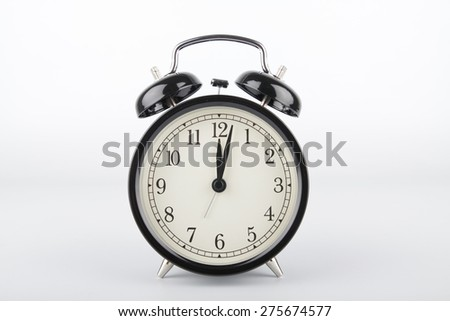 Two minutes past twelve o'clock. Midday or midnight. It is about twelve o'clock.