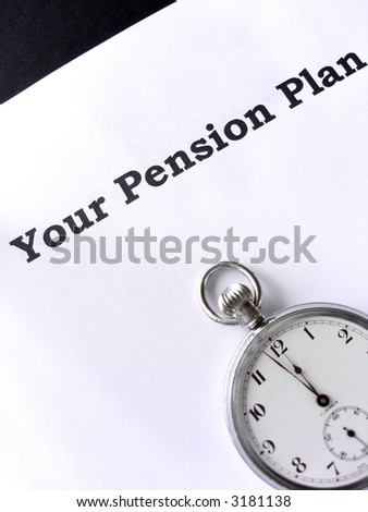 Two minutes to midnight for your pension plan - stock photo