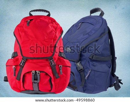 Two modern backpacks - stock photo