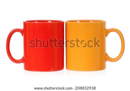 Two mugs - stock photo