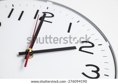 Two o'clock - stock photo