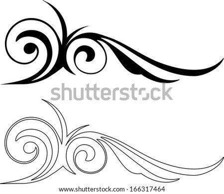 Two of Elegance Elements design - stock photo