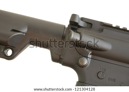Two of the main controls on a modern assault rifle