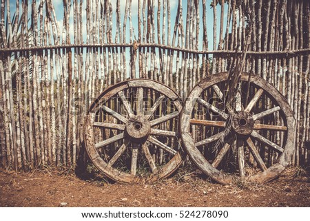 Wagon wheel stock images royalty free images vectors for Things to do with old wagon wheels