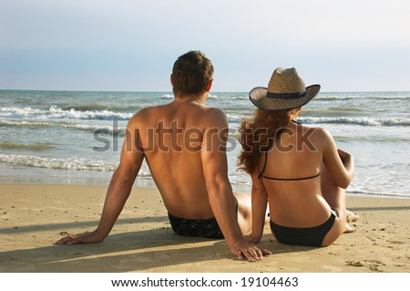 Two on a coast - stock photo