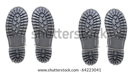 two pairs of shoes - stock photo
