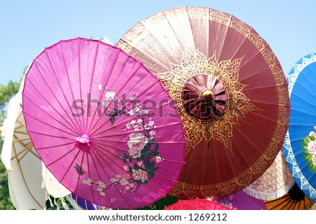 Two parasols - stock photo