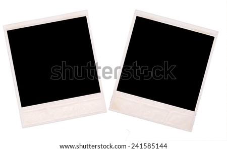two photos on white  background - stock photo