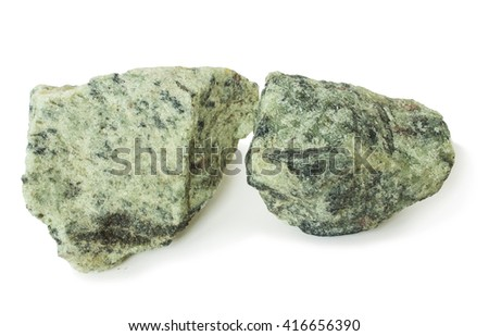 Two piece apatite ore, raw material for production of fertilizers - stock photo