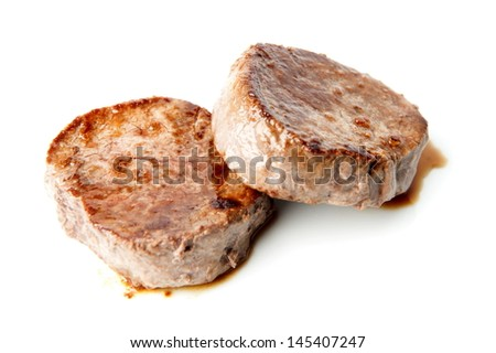 Two pieces of Medallion fillet Mignon