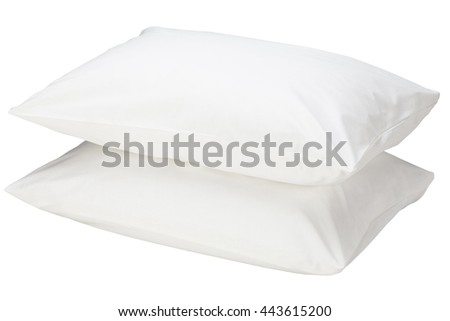 Two pillows isolated on white background. Include clipping path