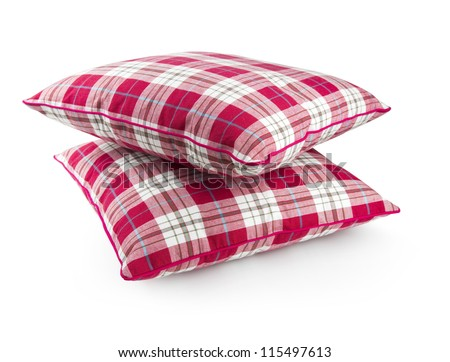 two pillows with clipping path