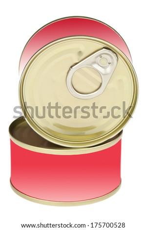 two preserves on white background - stock photo