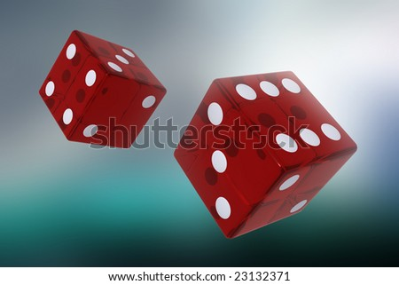 Two red dices