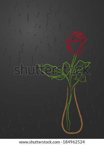Two red hearts on a red abstract background, Valentines greeting card - stock photo