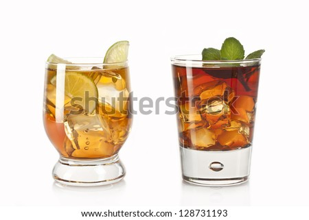 two refreshing alcoholic and non-alcoholic cocktails