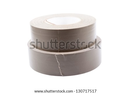 two rolls of tape isolated on white background