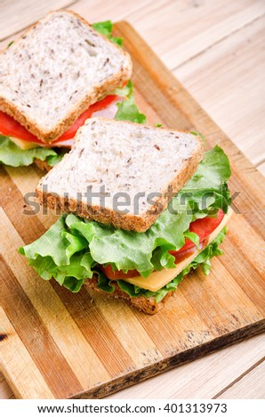 Two Sandwiches. Food. Fresh & healthy food. Concept