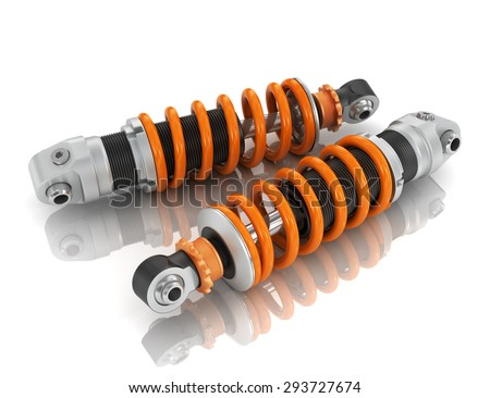 Two shock absorber car. - stock photo