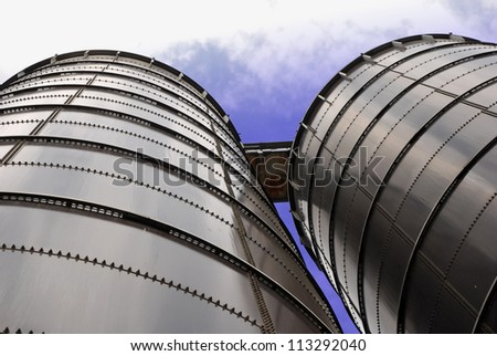 Two Silos - stock photo