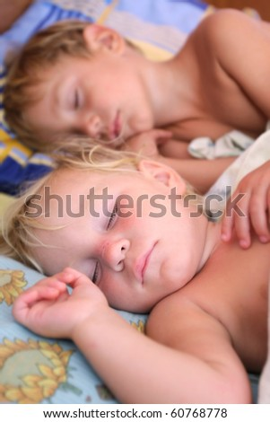two sleeping kids