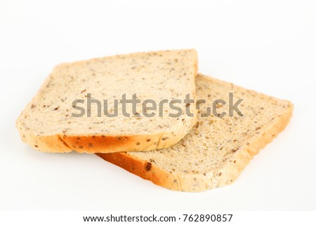 two slices of bread with chia