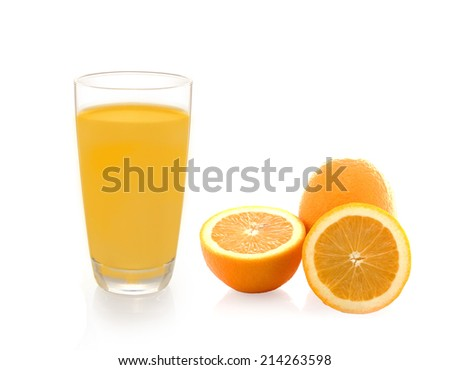 Two Slices of Orange Isolated on White Background