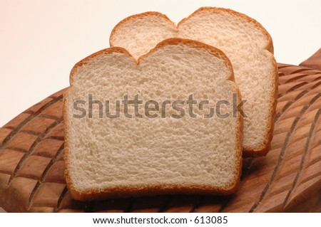 two slices white bread