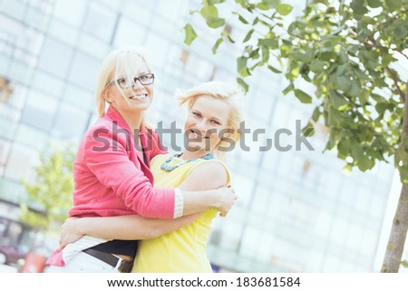 Two Smiling Women