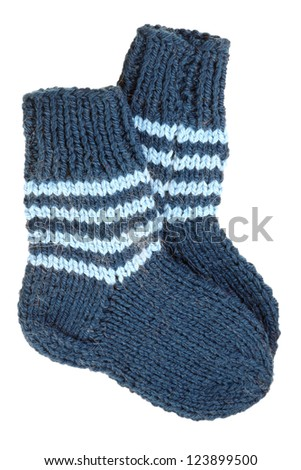 Two socks isolated on white background