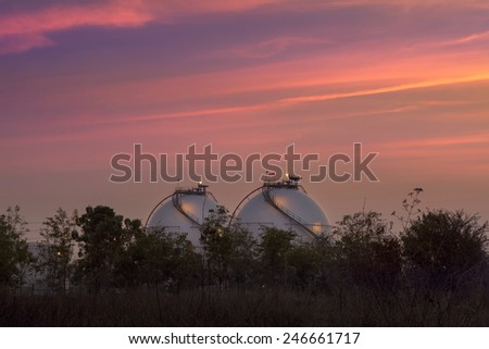 Two sphere  in petrochemical plant