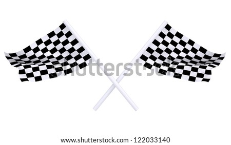 Two sports flag. Isolated render on a white background - stock photo