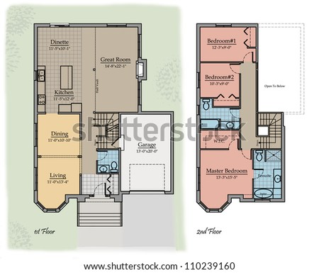 Two storey stock images royalty free images vectors for House plan names
