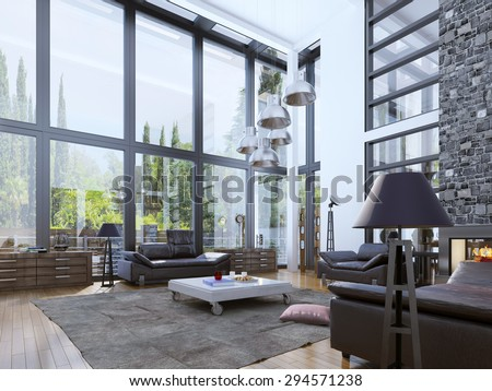 Loft living stock images royalty free images vectors for Unity 3d room design