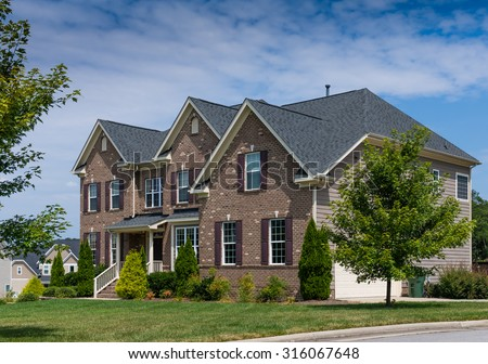 Two story house in North Carolina - stock photo
