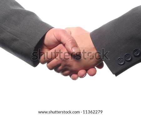 Two successful businessman shaking hands