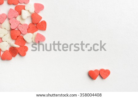 Two Sweet hearts Valentine's card - stock photo