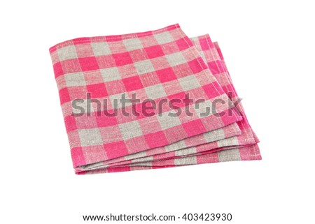 two table napkins on white background isolated