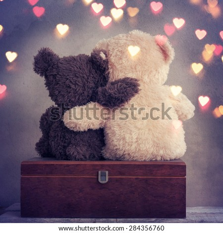 two teddy bears - stock photo