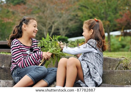 Two Kids Talking Stock Images Royalty Free Images